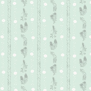 The Devonstone Collection Little Aussie Friends Native Stripe in Mint