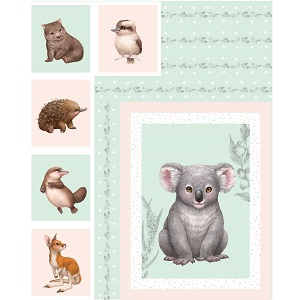 The Devonstone Collection Little Aussie Friends Panel