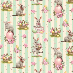 The Devonstone Collection Easter Bilby Main in Mint Stripe