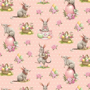 The Devonstone Collection Easter Bilby Main in Pink Dot