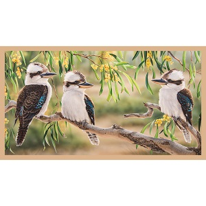 The Devonstone Collection Wildlife Art Panel - Kookaburra