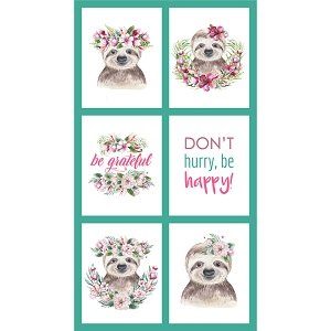 The Devonstone Collection Tropical Zoo Sloth Multi Panel
