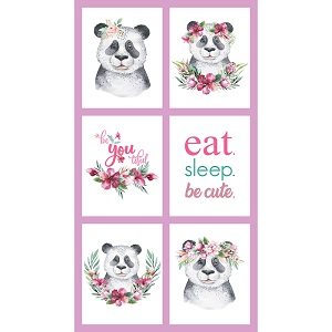 The Devonstone Collection Tropical Zoo Panda Multi Panel
