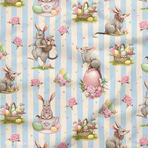 The Devonstone Collection Easter Bilby Main in Blue Stripe