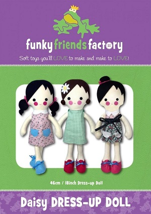 Funky Friends Factory Daisy Dressup Doll Softie Pattern