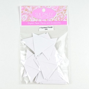Sue Daley Designs - Precut Template Equilateral Triangle Papers for English Paper Piecing - Choose Your Size