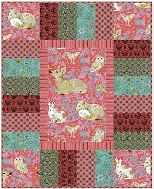 Freespirit Fabrics Land Art Eazy Piezy Cot Quilt Kit