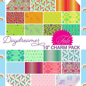 Freespirit Fabrics Tula Pink Daydreamer 10 Inch Squares Pre-Cut 42 Pieces *** PRE-ORDER - ARRIVING JANUARY 2022 ***