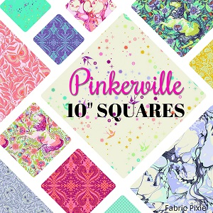 Tula Pink - Pinkerville - 10 Inch Squares Pre-Cut 42 Pieces *** PREORDER ARRIVING END OF APRIL 2019 ***