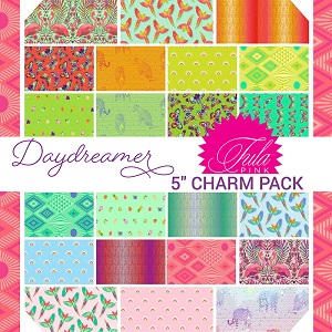 Freespirit Fabrics Tula Pink Daydreamer 5 Inch Charm Pack 42 Pieces *** PRE-ORDER - ARRIVING JANUARY 2022 ***
