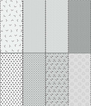 Riley Blake Designs Paper Daisies Fat Eighth Panel in Gray