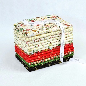 Makower UK Twelve Days of Christmas Fat Quarter Bundle