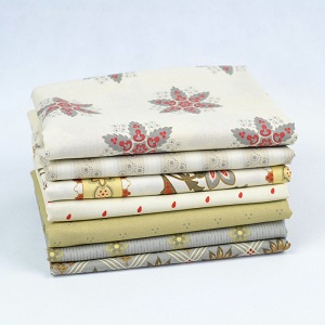 Riley Blake Designs - French Courtyard Fat Quarter Bundle 7 pieces in Grey