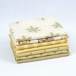Riley Blake Designs - French Courtyard Fat Quarter Bundle 7 pieces in Yellow