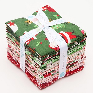 Riley Blake Designs - Merry and Bright - Fat Quarter Bundle of 21 Pieces