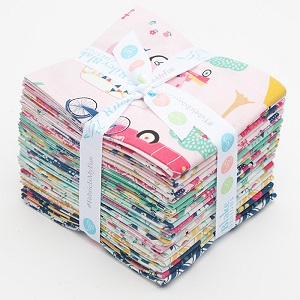 Riley Blake Designs - I'd Rather Be Glamping - Fat Quarter Bundle of 21 Pieces