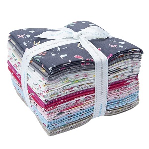 Riley Blake Designs Moments Fat Quarter Bundle of 21 Pieces