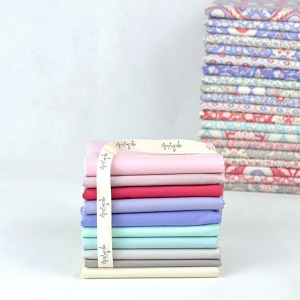 Devonstone Solids Co-ordinating with Bon Voyage - Fat Quarter Bundle of 10 fabrics