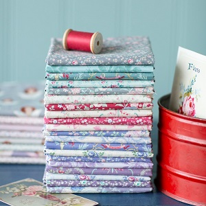 Tilda Old Rose Fat Quarter Bundle of 20 fabrics