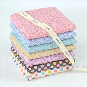 Tilda Plum Garden Jam and Dot Co-ordinates - Fat Quarter Bundle of 7 fabrics