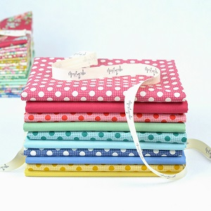 Tilda - Apple Butter Medium Dots and Solids - Fat Quarter Bundle of 10 fabrics