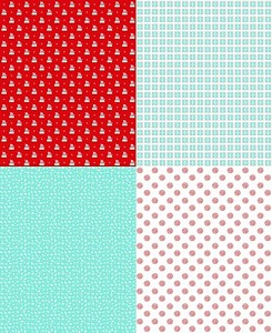 Riley Blake Designs - A Little Sweetness - Fat Quarter Panel Aqua