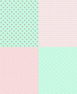 Riley Blake Designs - A Little Sweetness - Fat Quarter Panel Mint