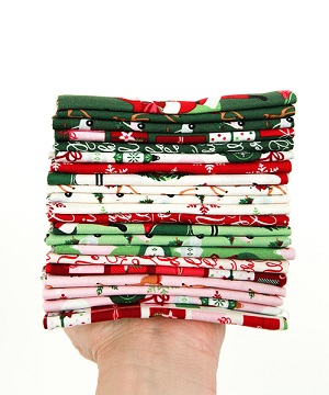 Riley Blake Designs - Merry and Bright - Half Metre Bundle of 21 Pieces