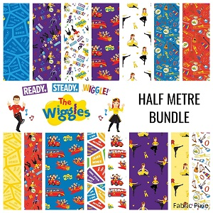 Riley Blake Designs The Wiggles Ready Steady Wiggle! - Half Metre Bundle of 15 Pieces