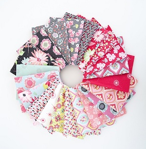 Riley Blake Designs Paper Daisies Half Metre Bundle of 21 Pieces