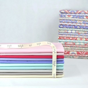 Devonstone Solids Co-ordinating with Bon Voyage - Half Metre Bundle of 10 fabrics