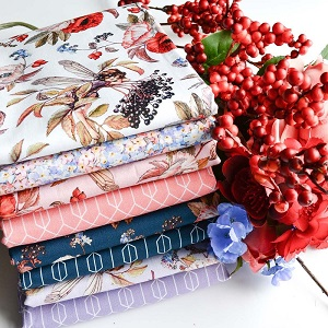 Michael Miller Michael Miller Elderberry Flower Fairies  - Half Metre Bundle of 8 Pieces