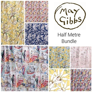 May Gibbs Half Metre Bundle of 8 Pieces *** PRE-ORDER - ARRIVING JANUARY ***