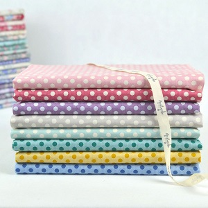 Tilda Old Rose Medium Dot Co-ordinates - Half Metre Bundle of 8 fabrics