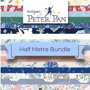 Michael Miller - Peter Pan by Sarah Jane - Half Metre Bundle of 21 Pieces