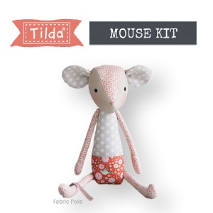 Tilda - Bird Pond - Baby Mouse Grey/Orange Fabric Only Kit