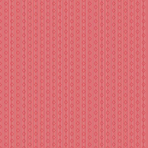 Penny Rose Fabrics - Linen and Lawn Stripe in Red - 137cm wide *** REMNANT PIECE 84CM X 137CM ***