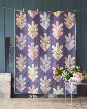 Tilda Maple Farm Leaf Quilt Kit in Aubergine