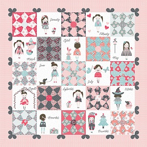 Riley Blake Designs Abbie's Garden Abbie's Closet Quilt Pattern and Template Set