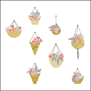 Riley Blake Designs Petals and Pots Hanging Baskets Quilt Kit