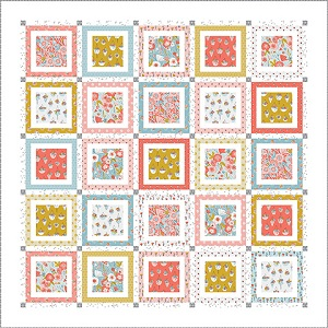 Riley Blake Designs Petals and Pots Window Panes Quilt Kit