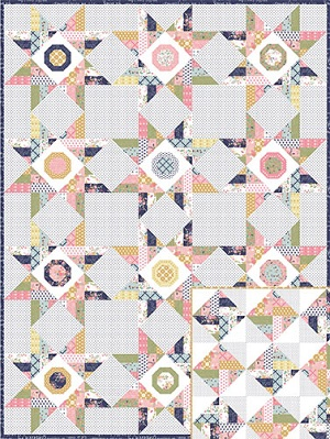 Keera Job Wildflowers Quilt Pattern and Template Set *** PREORDER ARRIVING END FEBRUARY ***