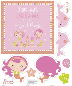 Riley Blake Designs - Under the Sea Pillow & Quilt Panel in Pink