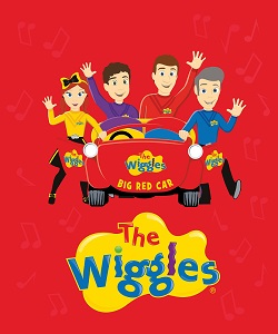 Riley Blake Designs The Wiggles Ready Steady Wiggle! - Big Red Car Panel in Red