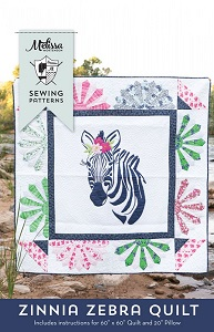 Zinnia Zebra Quilt & Pillow Pattern by Melissa Mortenson