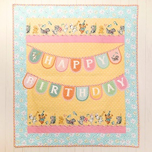 Penny Rose Fabrics Perfect Party Happy Birthday Banner Quilt Kit