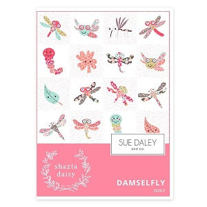 Damselfly Quilt Pattern by Shaztadaisy for Sue Daley & Co