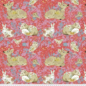 Freespirit Fabrics Land Art Enchanted Forest in Rose