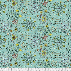 Freespirit Fabrics Land Art Fairy Circles in Bleu