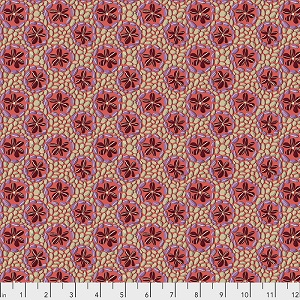 Freespirit Fabrics Land Art Stone Flowers in Rose